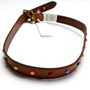 🔥BOGO🔥 Gymboree Leather Rainbow Dot Belt